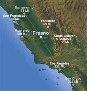 fresno-distance